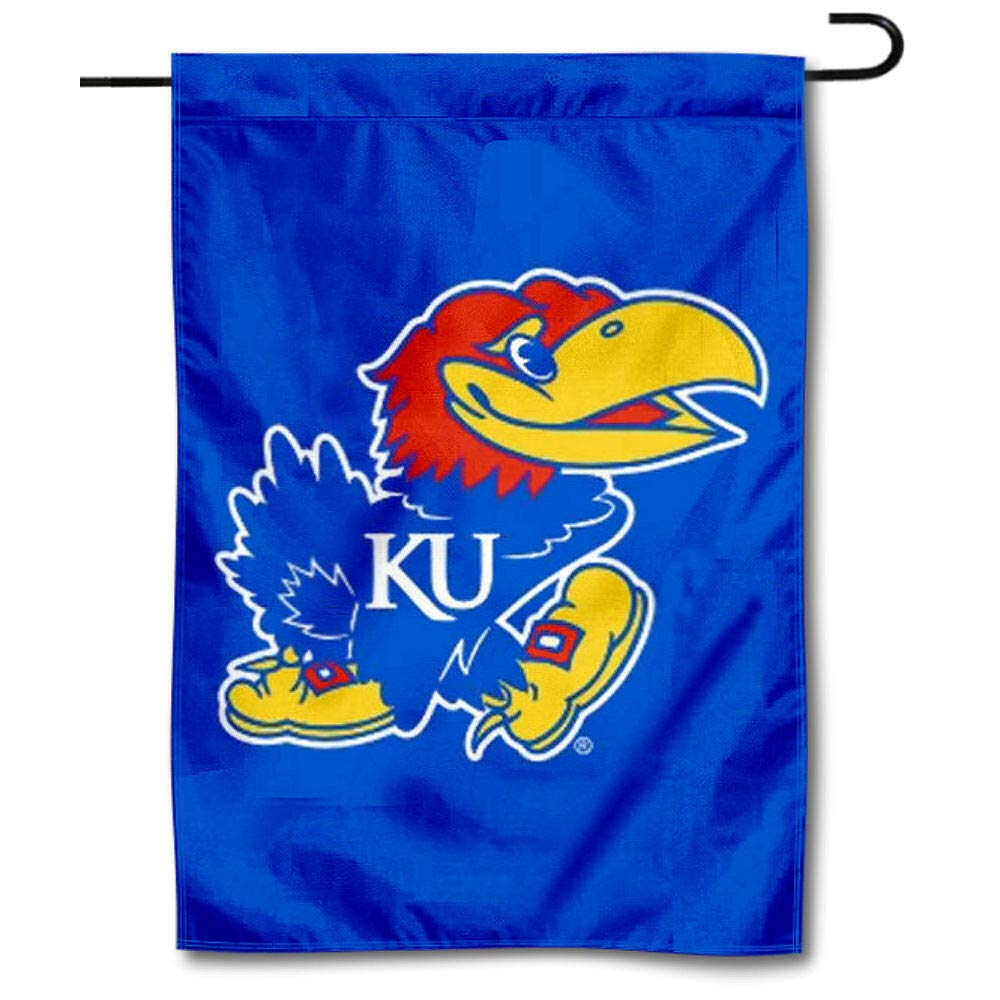 College Flags and Banners Co Kansas KU Jayhawks Garden Flag