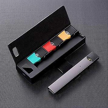 Ocamo LCD Cargador port/átil Power Bank Cargador Funda de bater/ía 3X Pods Holder para JUUL00 Productos electronicos No nicotina Negro