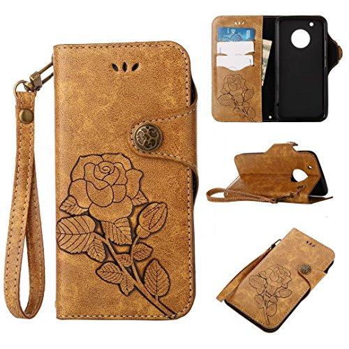 COWX Motorola Moto G5 Plus Hülle Kunstleder Tasche Flip im Bookstyle Klapphülle mit Weiche Silikon Handyhalter PU Lederhülle für Motorola Moto G5 Plus Tasche Brieftasche schutzhülle YDRNGca3o