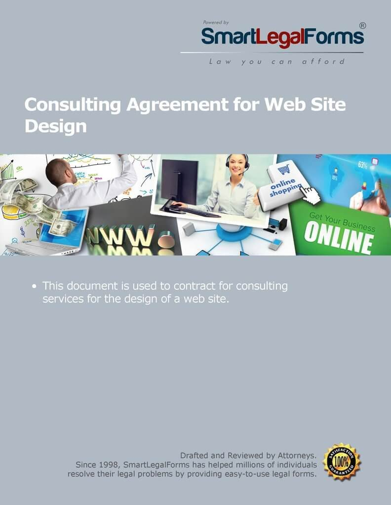 Consulting Agreement for Web Site Design [Instant Access] by SmartLegalForms, Inc.