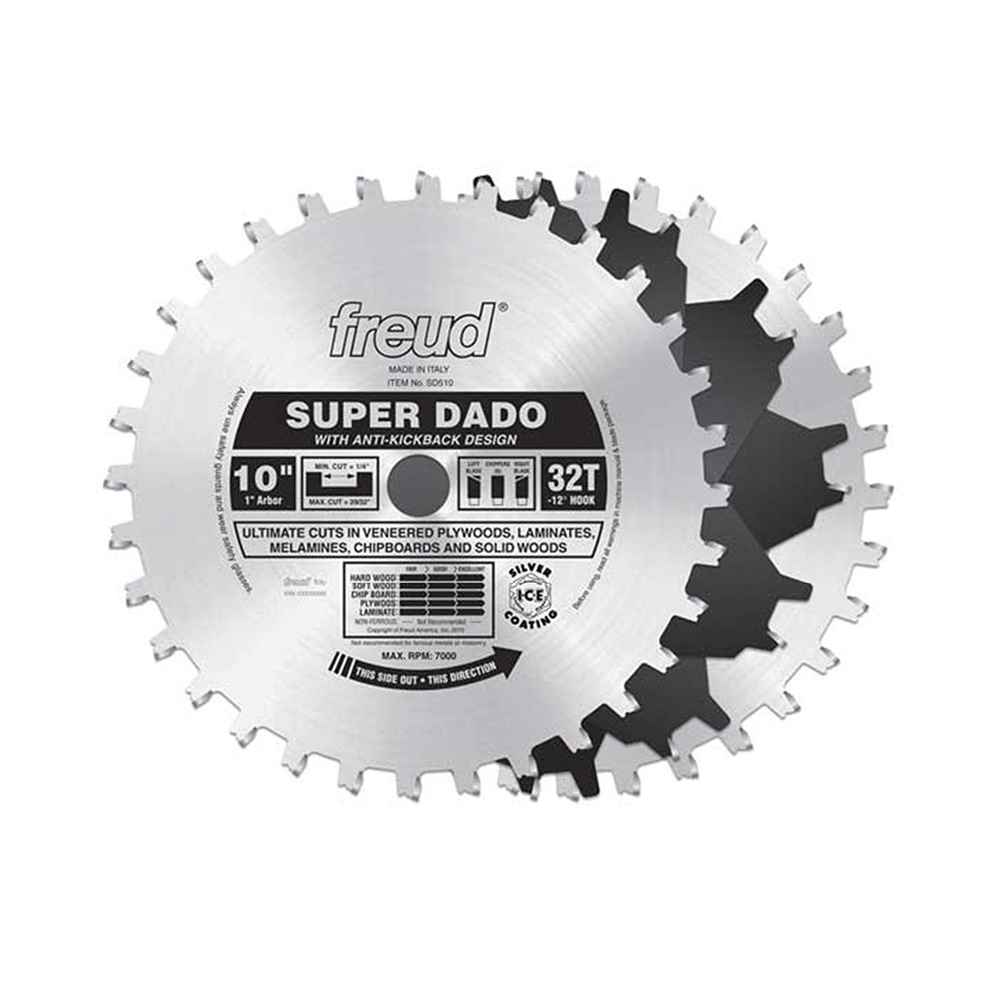 Freud 10 x 32t super dado sets sd510 dado saw blades amazon greentooth Image collections