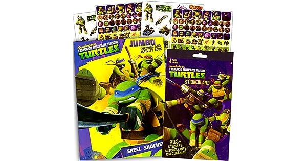Amazon.com: TMNT teenage mutant ninja turtles colorear y ...
