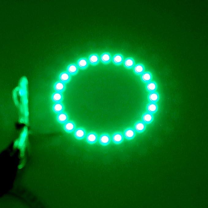 ZXREEK 2X 80MM Yellow Color 3.15 Inch Car Cob LED Angel Eyes Light Halo Ring Headlight Marker 12V//24V