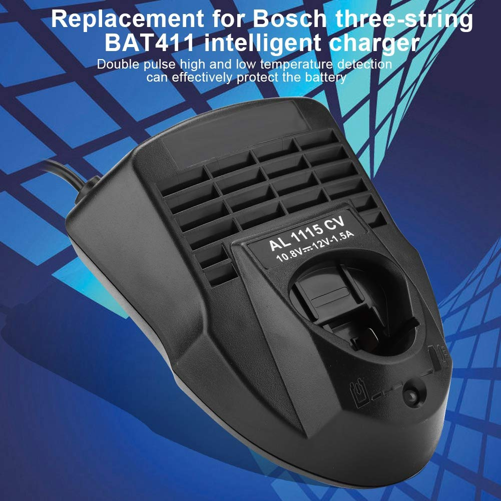 10.8V 12V AL1130CV Cargador r/ápido port/átil Reemplazo del Cargador de bater/ía Compatible con Bosch Aiggend Cargador de bater/ía