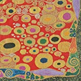 Dinner Napkins Christmas Decor Winter Wedding Gustav Klimt Style Red Pk of 20