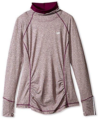 New Balance Women's Beacon Pullover, Imperial Purple Heather, (Ladies Beacon)