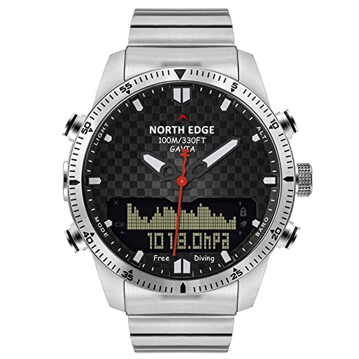 NORTH EDGE Hombres, Buceo, Deportes, Reloj Digital, para Hombre, ejército,