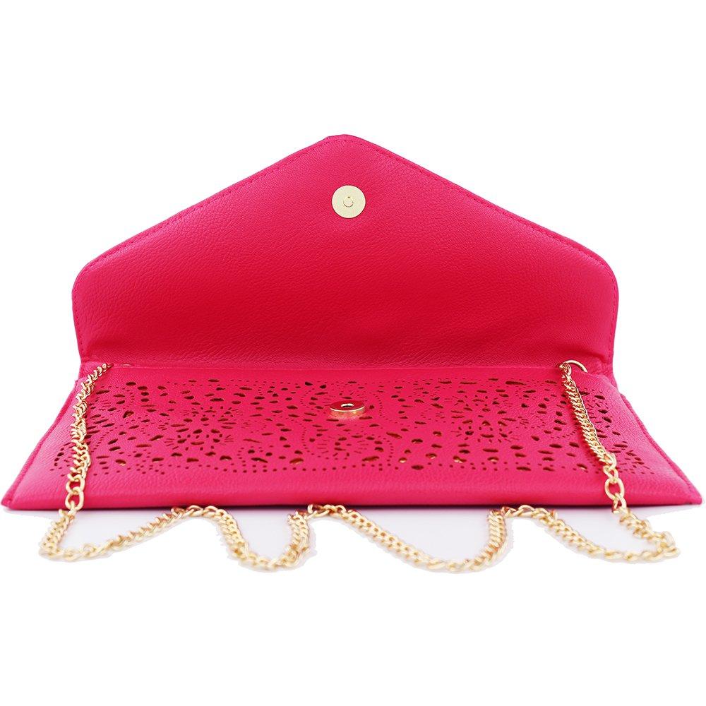 women bag 2017 bolsa feminina women purses and handbags women leather handbags crossbody bags for women crossbody purse bolsos mujer elegante bag small crossbody bags for women clutch bag (rose red) by imentha (Image #4)