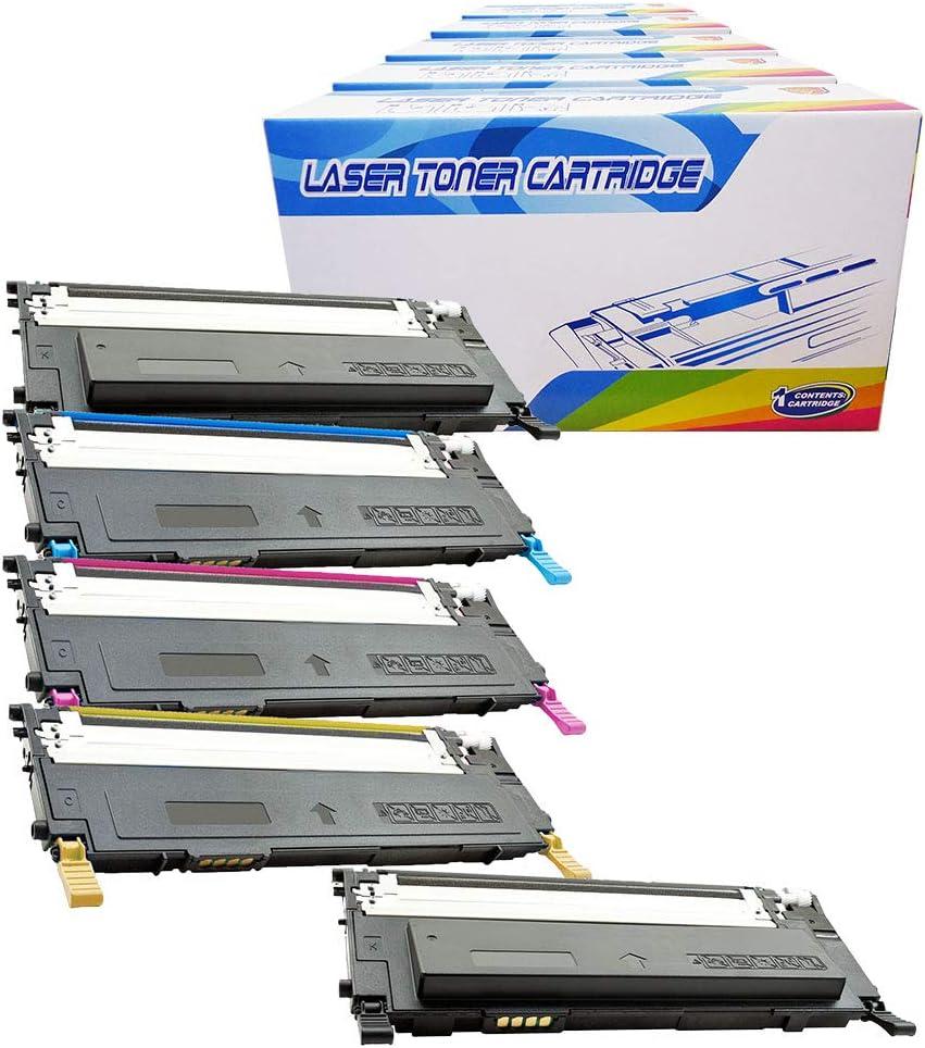 Inktoneram Compatible Toner Cartridges Replacement for Dell 1230c 1235 1230 1235cn ([2-Black,Cyan,Magenta,Yellow], 5-Pack)