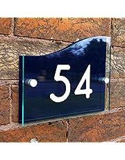 Placa de señal para casa personalizada con dirección, efecto de cristal acrílico