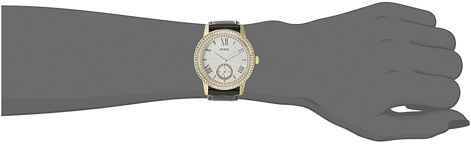 Blackamp; Elegant With Tome Watch Guess Crystals Genuine Gold U0642l2 Women's 6IY7vfgyb