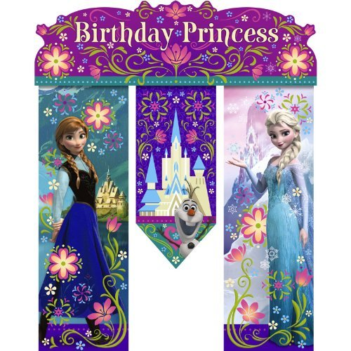 Hallmark Disney Frozen Birthday Banner - Birthday Party Supplies]()