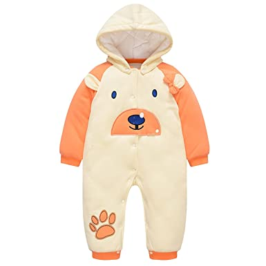 7a9a9c27e2de1 Bebone Baby Clothes Boy Romper Girl Jumpsuit Newborn Winter Outfits  (Orange