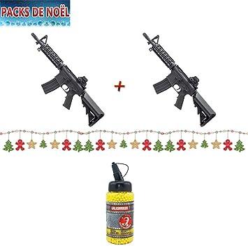 Cm306 Paquete de regalo de Navidad con lote de 2 pistolas Colt M4 CQB de muelle