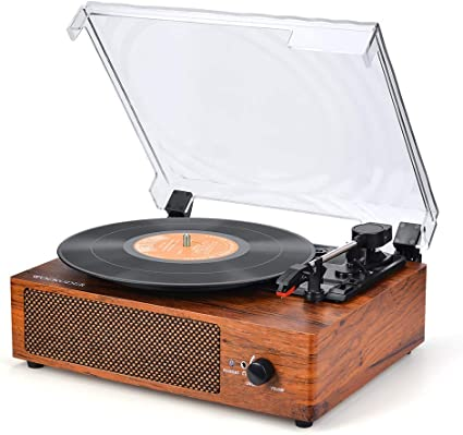 Record Player Turntable Vinyl Record Player with Speakers Turntables for Vinyl Records 3 Speed Belt Driven Vintage Record Player Vinyl Player Music ...