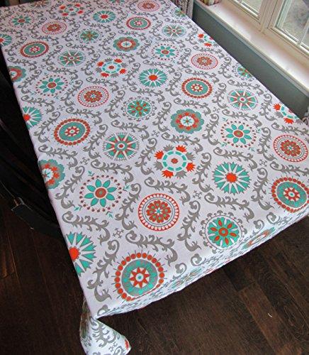 Crabtree Collection Orange Medallion Tablecloth