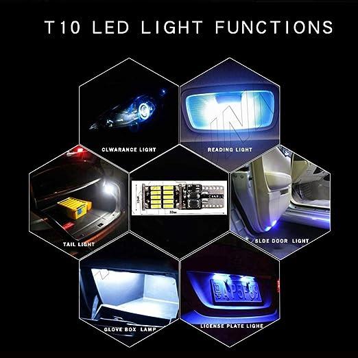 2x Ampoule w5w T10 501 canbus led bulbs 3014 26smd veilleuse//feux de position led anti-erreur ODB led side light bulbs blanc x/énon 6000k sinsere directment sans modification,garantie une an