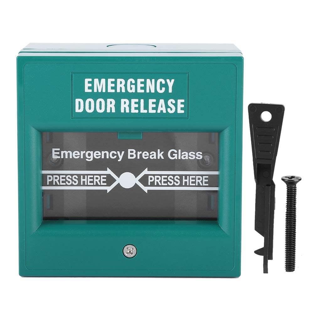 Emergency Exit Door Release Fire Alarm Button Home Security Door Break Switch with 1 Emergency Button 1 Installation Kit