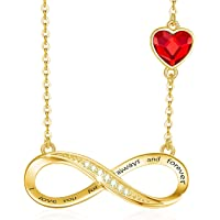 DYD Infinity Necklaces for Women/Girlfriend Crystal Love Heart Pendant Gift for Mother's Day Christmas Valentine's Day…
