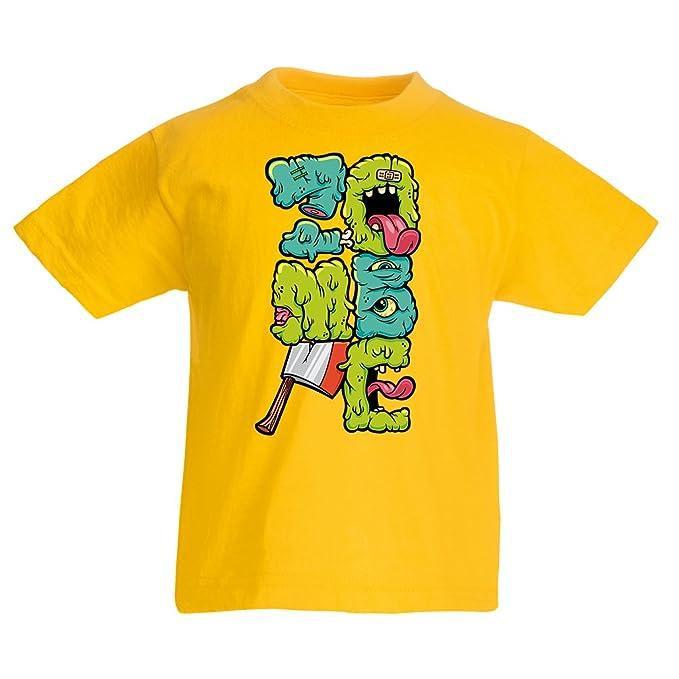 lepni.me Camiseta para Niño/Niña Zombie Regalo del Friki Idea para un Regalo Inusual: Amazon.es: Ropa y accesorios