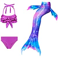 Maillots de Bain Filles Queue de Sirène Été Bikini Mermaid Enfant Cosplay Costume 3 Pièces Ensembles
