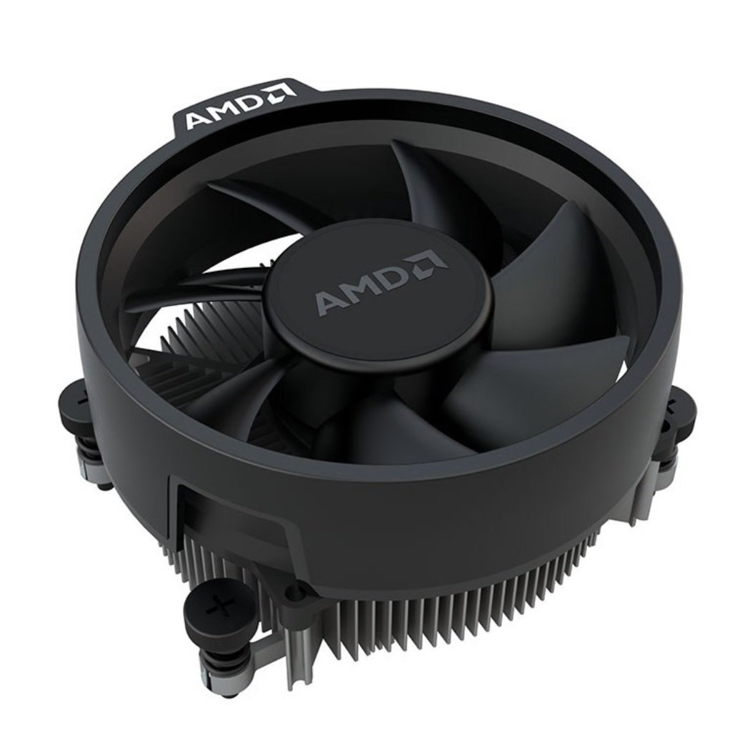 AMD Wraith Stealth Socket AM4 4-Pin Connector CPU Cooler With Aluminum Heatsink & 3.93-Inch Fan With TronStore Thermal Paste For Desktop PC Computer (TS72) by TronStore (Image #1)
