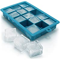iGadgitz Home Silicone Ice Cube Tray 15 Square Food Grade Ice Cube Moulds
