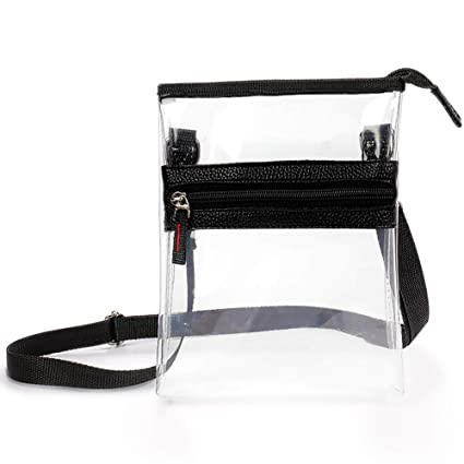 8c0cbe3a00a3 MUM'S MEMORY Clear Purse NFL & PGA Stadium Approved Clear Cross-Body  Messenger Shoulder Bag with Adjustable