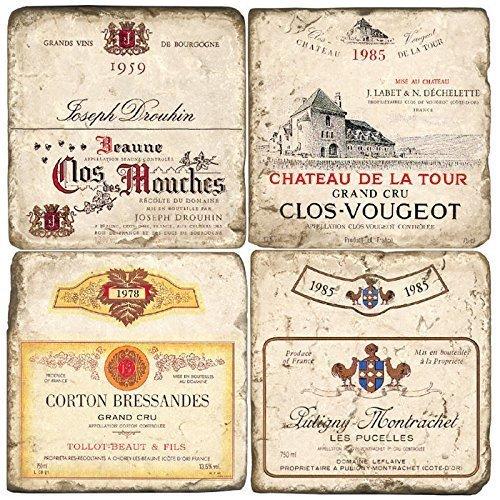 Studio Vertu French Wine Coasters - Verona Wine Bar