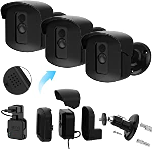 Blink XT2 Camera Mounts, Weatherproof Protective Cover and 360° Adjustable Wall Mount Bracket with Blink Sync Module Outlet Mount for Blink Home Security Camera System (Black, 3 Pack)