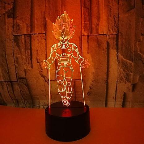 Klsoo Siete Dragon Ball Lámpara 3D Colorida Led Usb Colorido ...