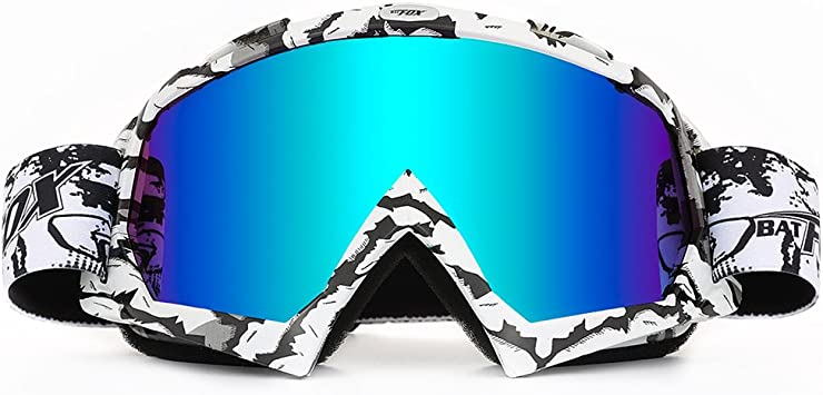 Snowmobile Motocross Motorcycle Goggles Clear Protective Fitover Anti-fog