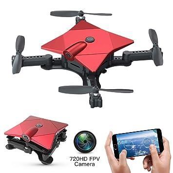 Drone Plegable FPV con cámara HD de 720P, Mini Selfie Drones ...