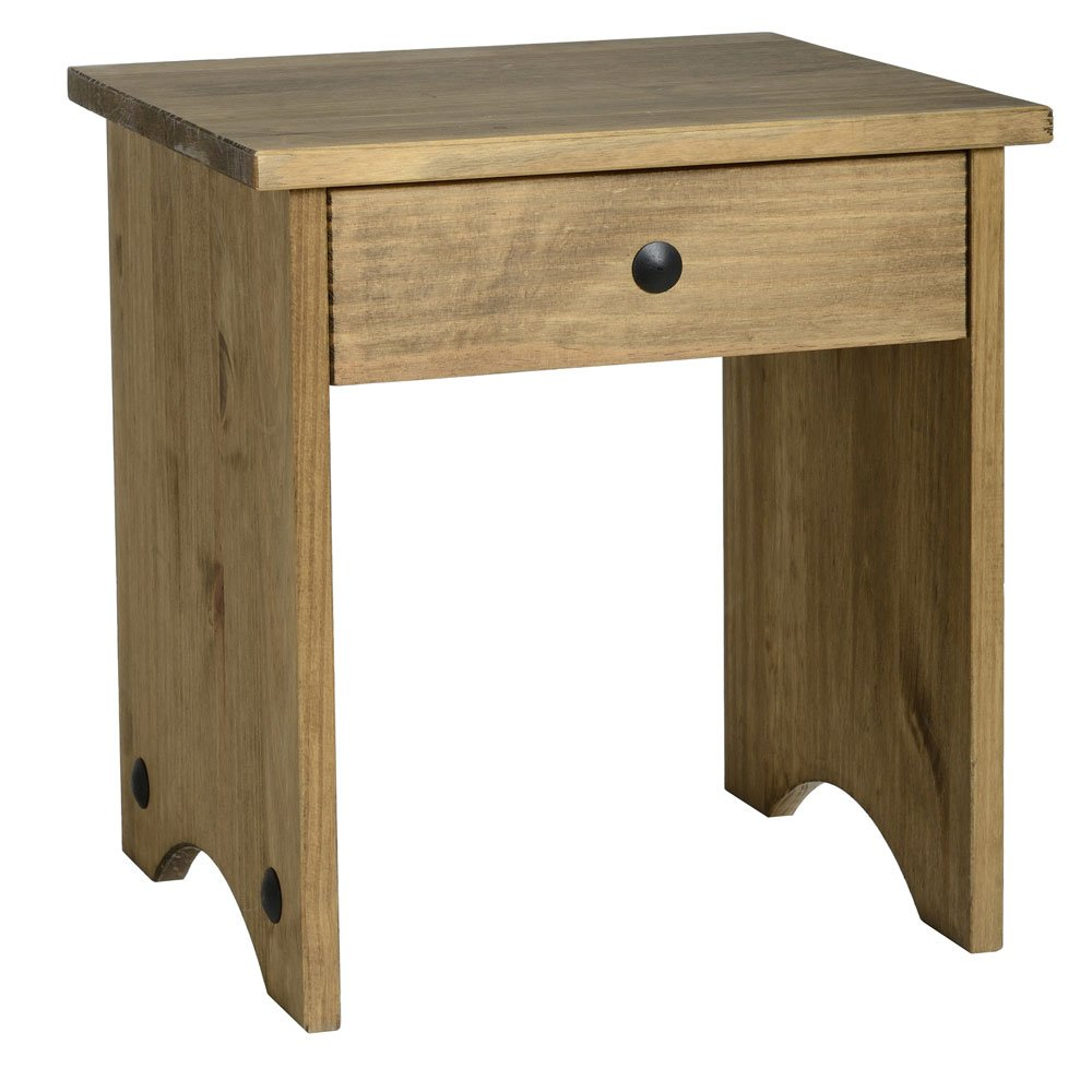 Corona Dressing Table Stool-Distressed Mexican Pine Seconique