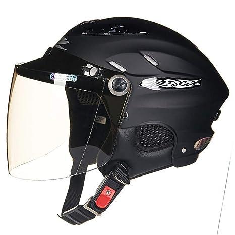 MSF - Casco de motocicleta todoterreno, protector solar, medio eléctrico, con visera para