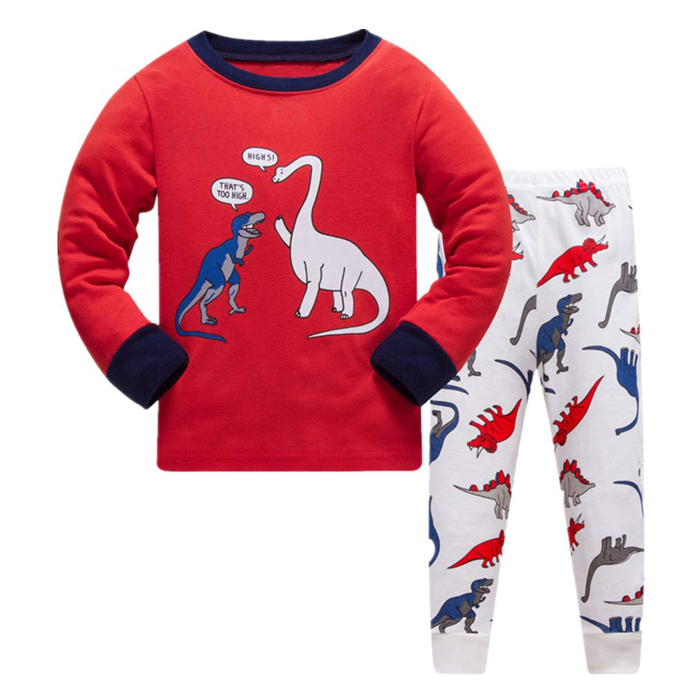 Tkala Boys Pajamas Winter Outfits Clothes Long Set Pjs Dinosaur 100/% Cotton Little Kids Sleepwear 2-12 Years