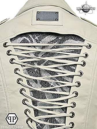 7a5aa480e4b16 Philipp Plein Femme Designer Cuir Veste - MOULIN ROUGE -S  Amazon.fr   Vêtements et accessoires