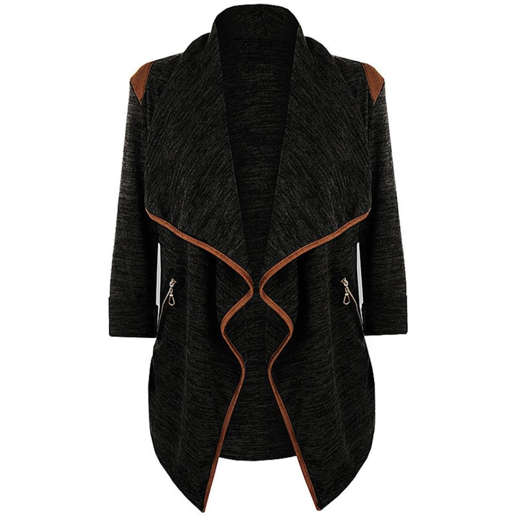 FAPIZI Autumn Winter Womens Coat Plus Size Cardigan Knitted Casual Long Sleeve Tops Jacket Outwear