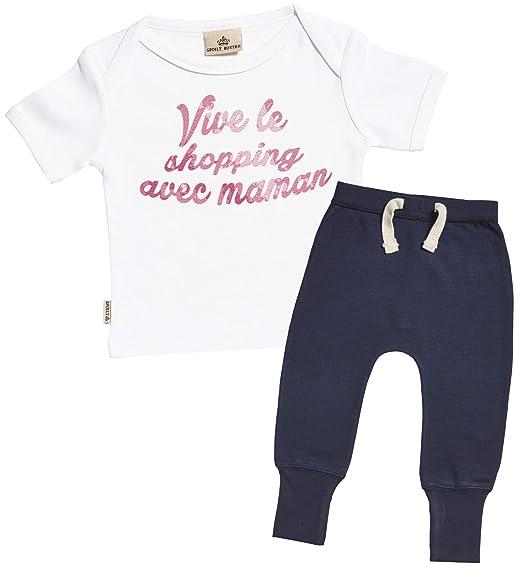 7485227ce2200 Spoilt Rotten SR - Vive Le Shopping avec Maman bébé Ensembles - bébé  Cadeaux Set -