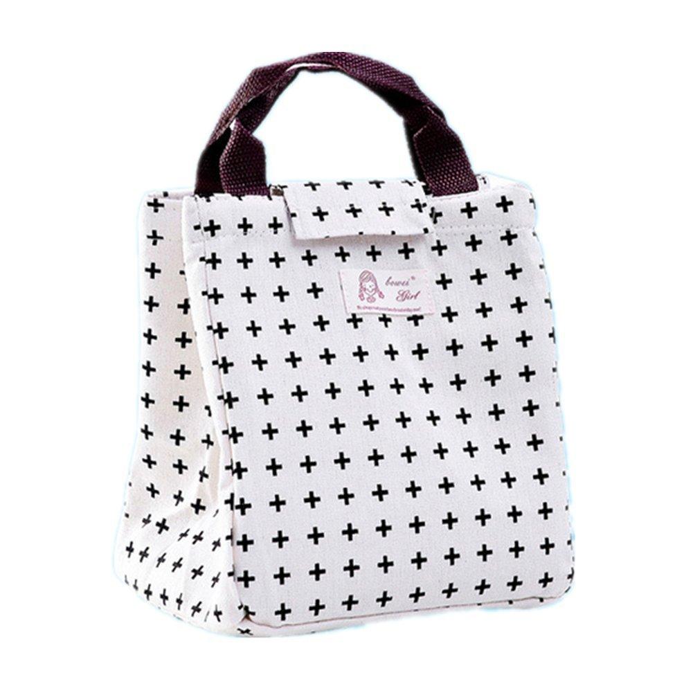 cosanter 1x Mignon Borsa Termica portatile sacchetti a Lunch per trasporto di cibo Organizzatore di viaggio 19.5*23.5*17cm 1