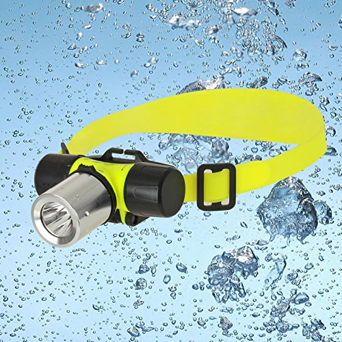 RedSun 800Lumen Diving Headlamp,Super Bright Underwater Headlamp with 3 Modes,Submarine Head Light LED Lamp Diving Head Flashlight for Diving,Hiking and Camping (Battery not Included)