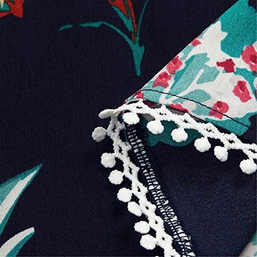 Stampa Bagno Fascia Pezzi Bikini Due Summer Di V Collar A Impostare Costume Shorts Italily Blu Botanica Abbigliamento Top Da Donna Beachwear Casual Donne Set Con xTvWF