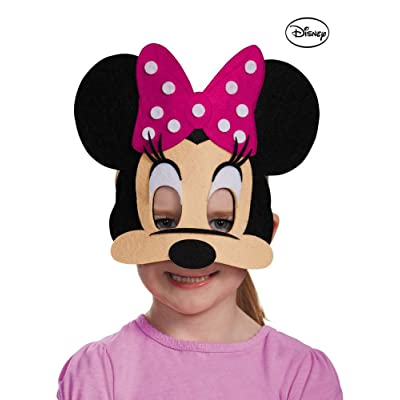 Disguise Costumes Minnie Mouse Pink Felt Mask, Toddler: Toys & Games