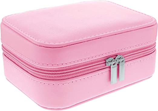 Mele & Co Tia - Estuche de Viaje para Joyas (Piel sintética, 12 x 9,5 x 5,5 cm), Color Rosa: Amazon.es: Hogar