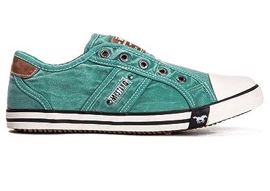 37 Mustang Damen Schuhe Sneaker Smaragd Shoes kXZOPuTi