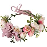 San Bodhi Flower Wreath Headband Crown Floral Garland Boho for Festival Wedding