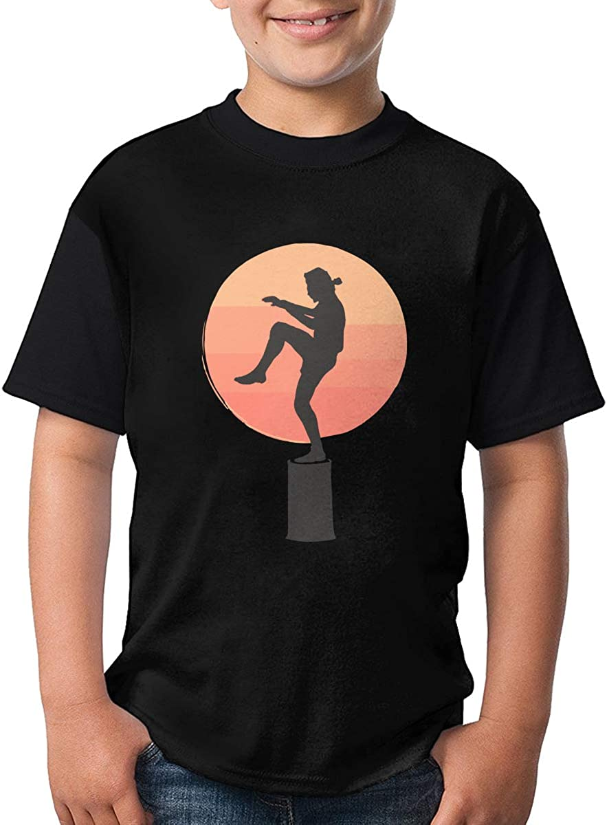TXYHDX11 Karate Kid Short Sleeve T-Shirt Funny Crew Neck Tee for Teenagers