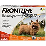 #9: Frontline Plus for Dogs Small Dog (5-22 pounds) Flea and Tick Treatment, 3 Doses