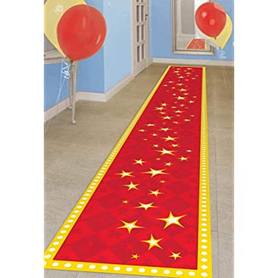 "Amscan""Toy Story 4"" Birthday Red and Yellow Fabric Party Floor Runner, 2' x 10', party decoration: Toys & Games"