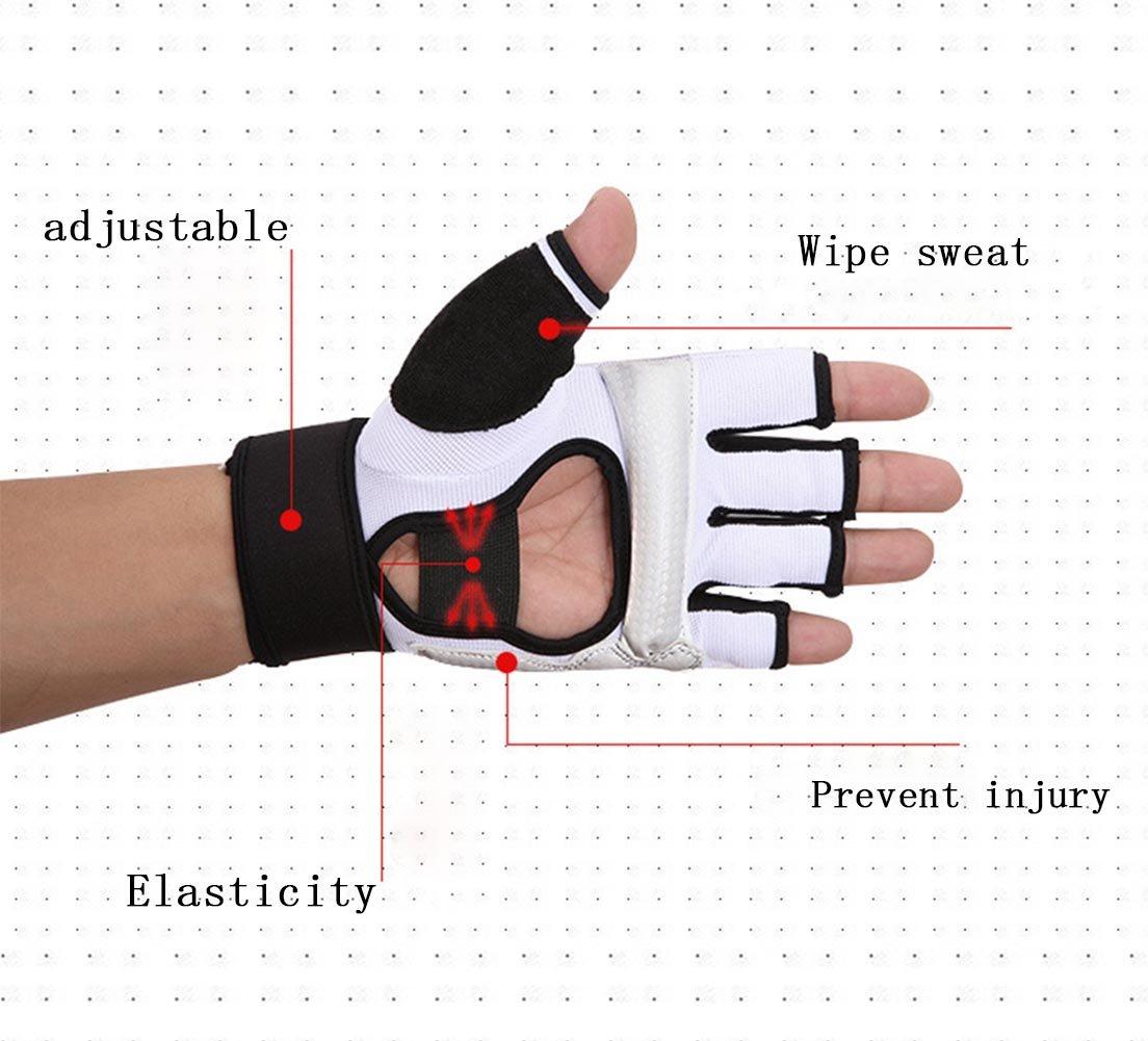 Kickboxing Gloves Punch Bag Muay Thai Boxing Training Fingerless Gloves for Men Women Children